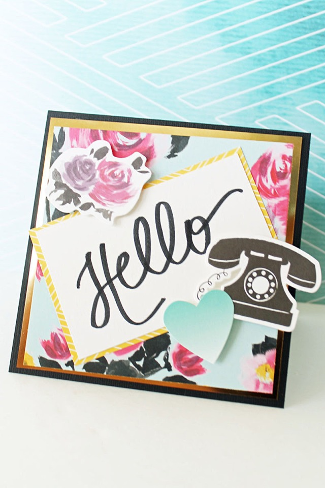Hand Lettered Urban Chic Card by Laura Silva 1