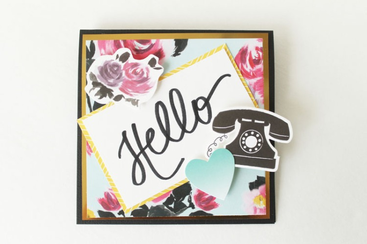 Hand Lettered Urban Chic Card by Laura Silva 5