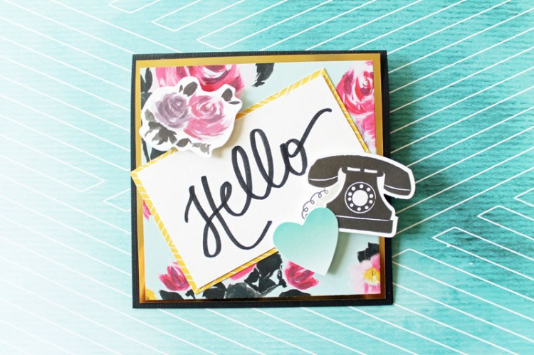 Hand Lettered Urban Chic Card by Laura Silva 7