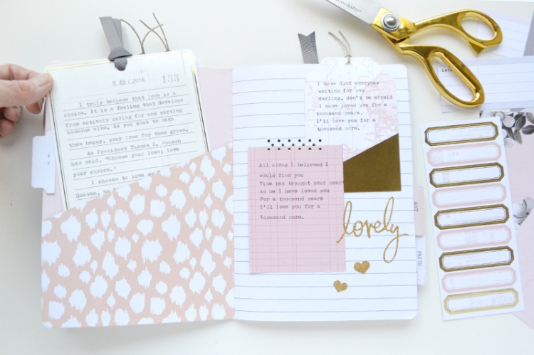 Typecast Quote Journal by Aly Dosdall 11
