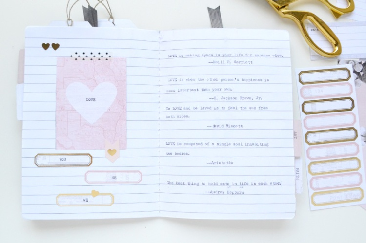 Typecast Quote Journal by Aly Dosdall 12
