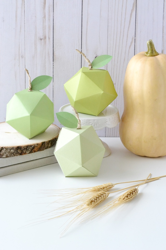 Geometric fall apple decor we r memory keepers blog for Apple decoration