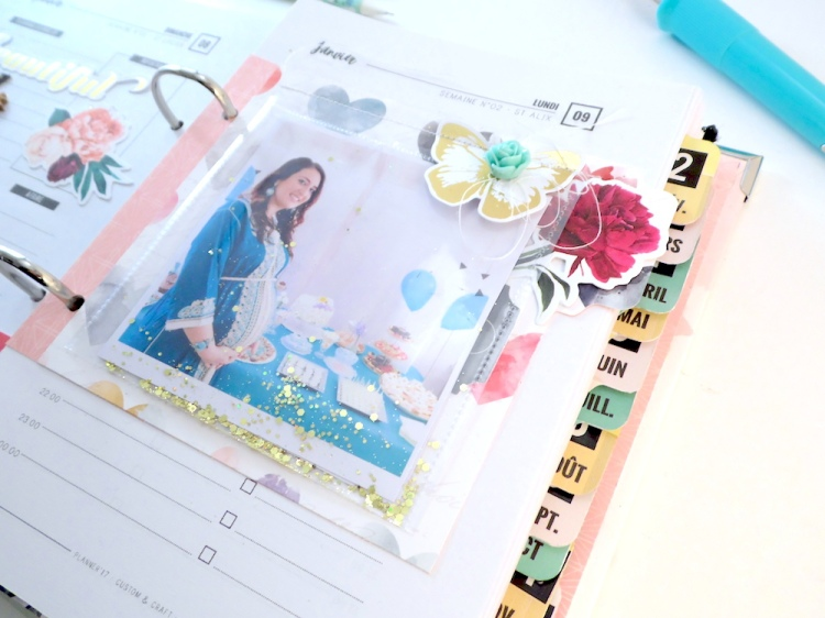 Planner Page featuring the Tab Punch Board and the Photo Sleeve Fuse by Soraya Maes for We R Memory Keepers