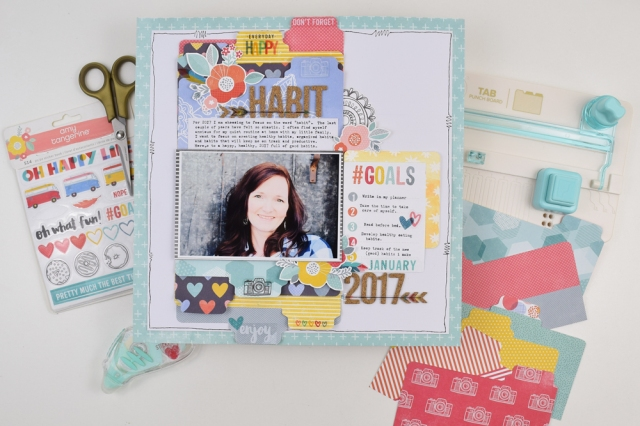 Tab Punch Board Layout by Becki Adams for We R Memory Keepers