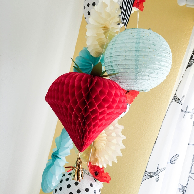 DIY Party Honeycomb Paper Home Decor by Tessa Buys for We R Memory Keepers