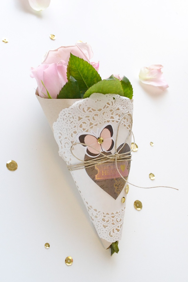 DIY Party Board Floral Wrap by Aly Dosdall for We R Memory Keepers