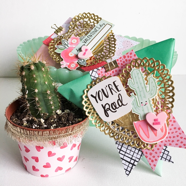 DIY party Board Valentine Treat Pouches