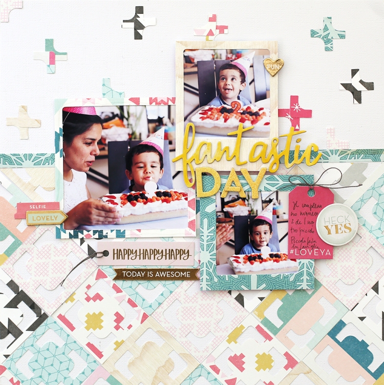 Frame Punch Board Layout by Eva Pizarro for We R Memory Keepers