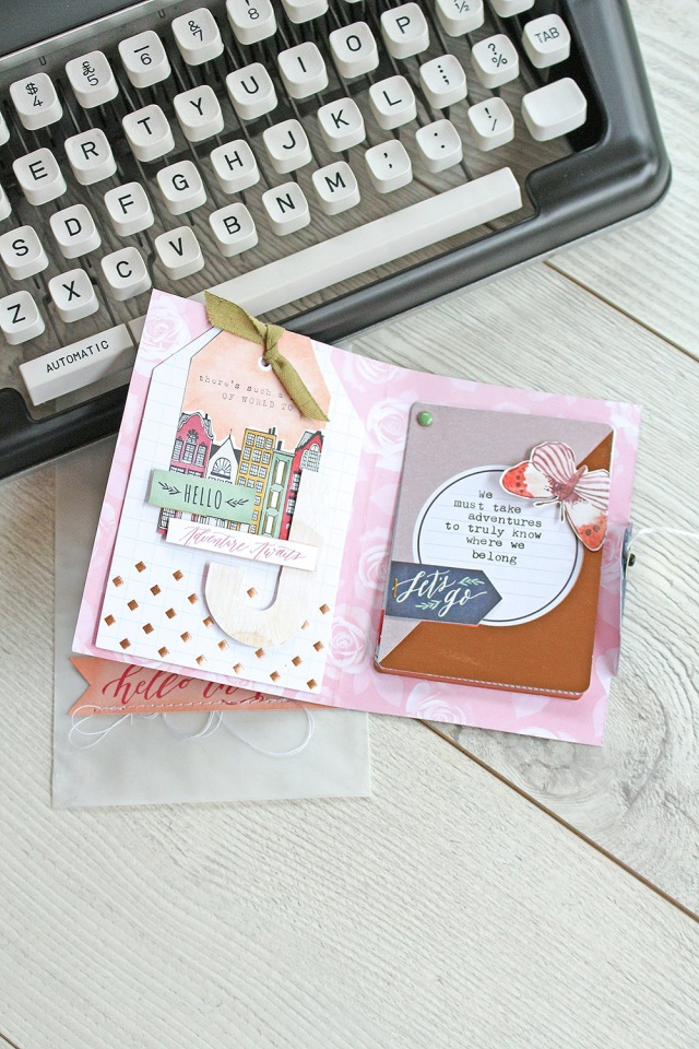 Mini File Folder Card by Chantalle McDaniel for We R Memory Keepers