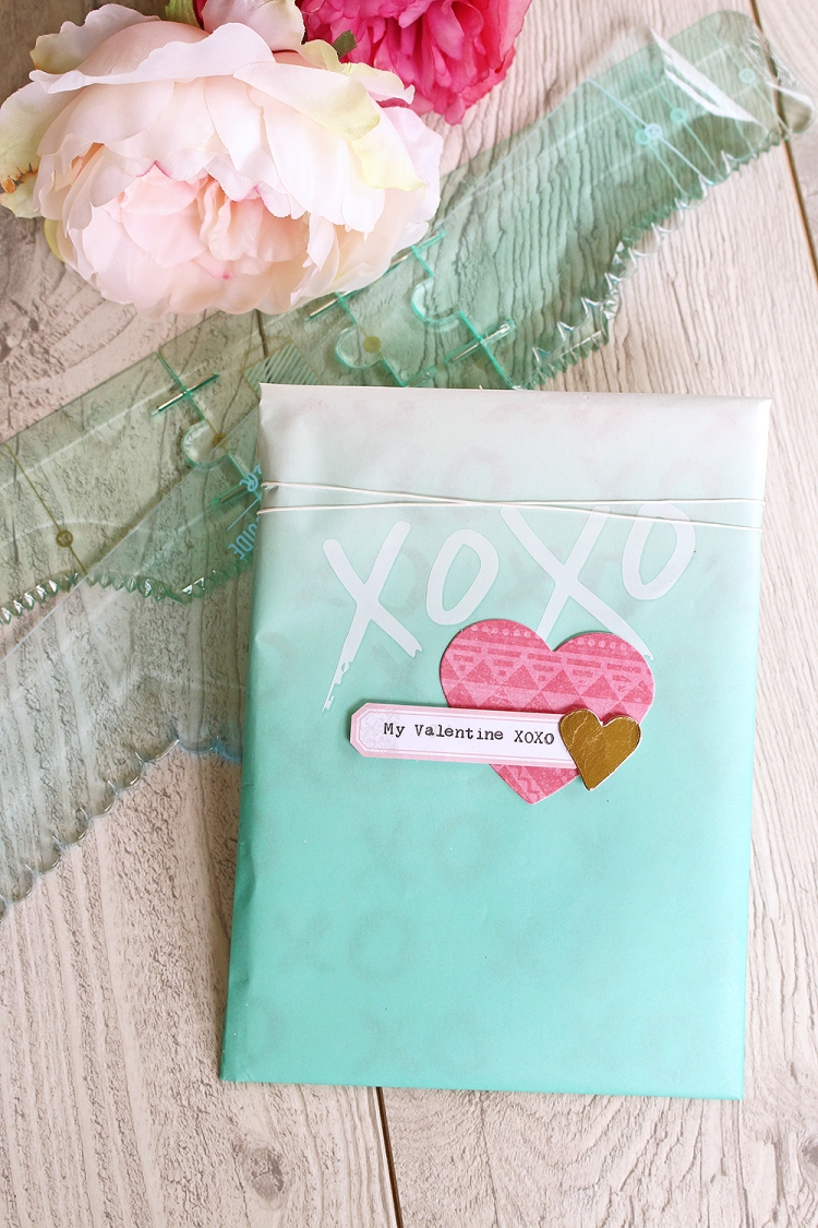 Valentine's Day Gift Pouch by Chantalle McDaniel for We R Memory Keepers