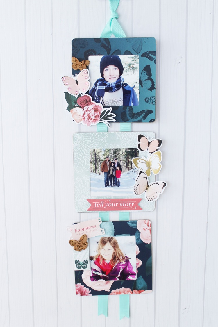 Frame Punch Board Photo Display by Laura Silva for We R Memory Keepers