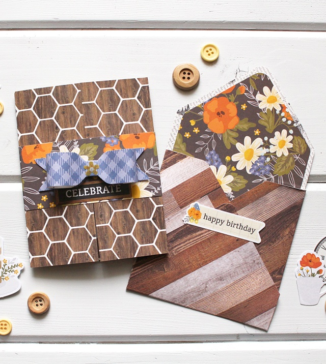 Gatefold Birthday Invitation by Kimberly Crawford for We R Memory Keepers