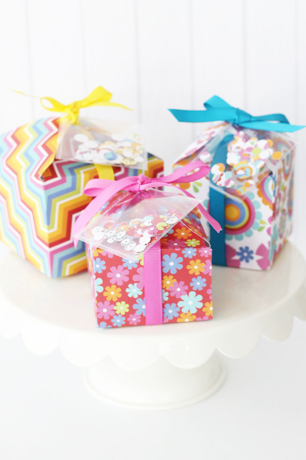 Confetti Birthday Favor Boxes We R Memory Keepers Blog