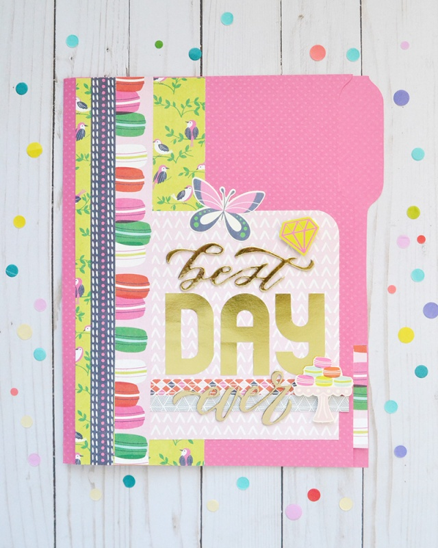 DIY File Folder Birthday Card by Aly Dosdall for We R Memory Keepers