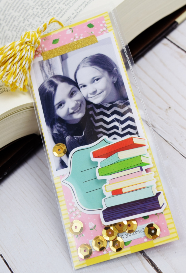 Shaker Bookmarks by Becki Adams for We R Memory Keepers