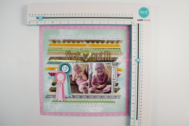 Add Ribbon to a Scrapbook Page with the Ribbon Cutter
