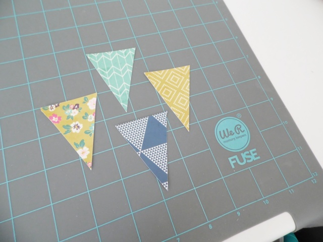 Shaker Pennant Scrapbook Page by Soraya Maes for We R Memory Keepers