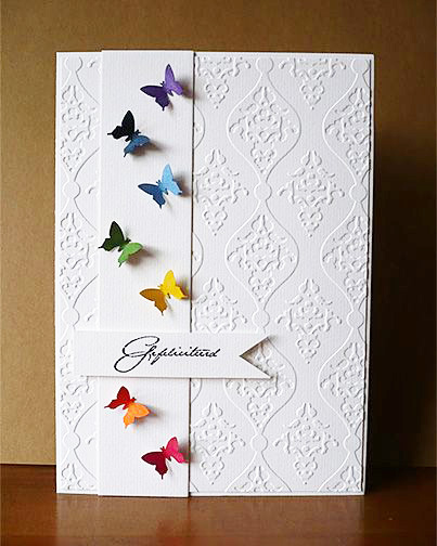 Embossed Butterfly Card