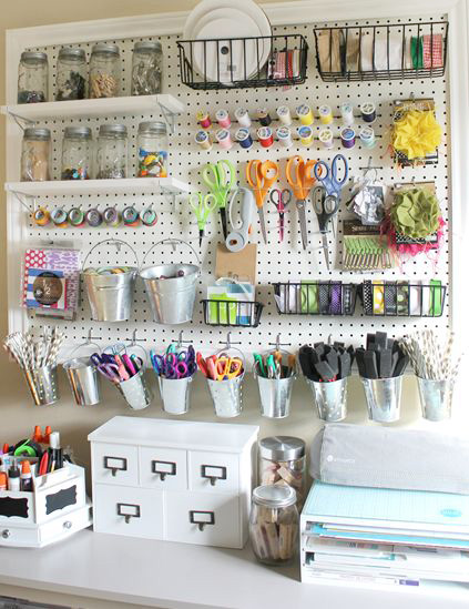 Peg Board Storage Wall
