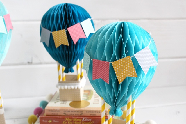 Hot Air Balloon Baby Decor by Kimberly Crawford for We R Memory Keepers