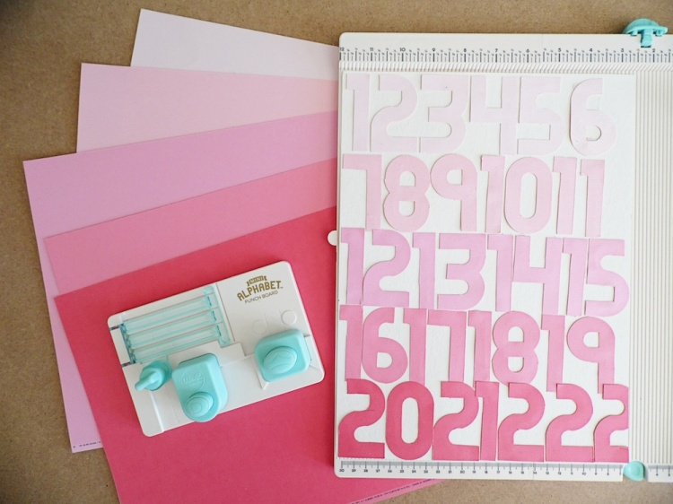 Mini Alphabet Punch Board Scrapbook Page by Soraya Maes for We R Memory Keepers