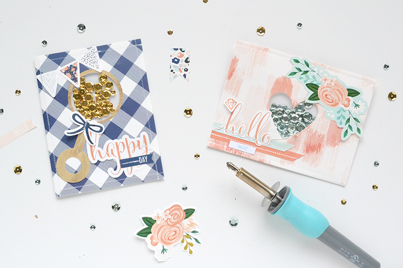 Shaker Baby Cards by Aly Dosdall for We R Memory Keepers