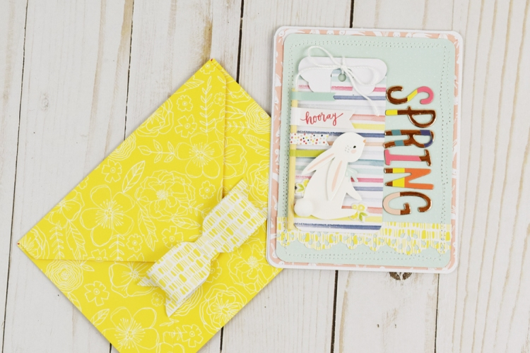 Spring Card by Becki Adams for We R Memory Keepers