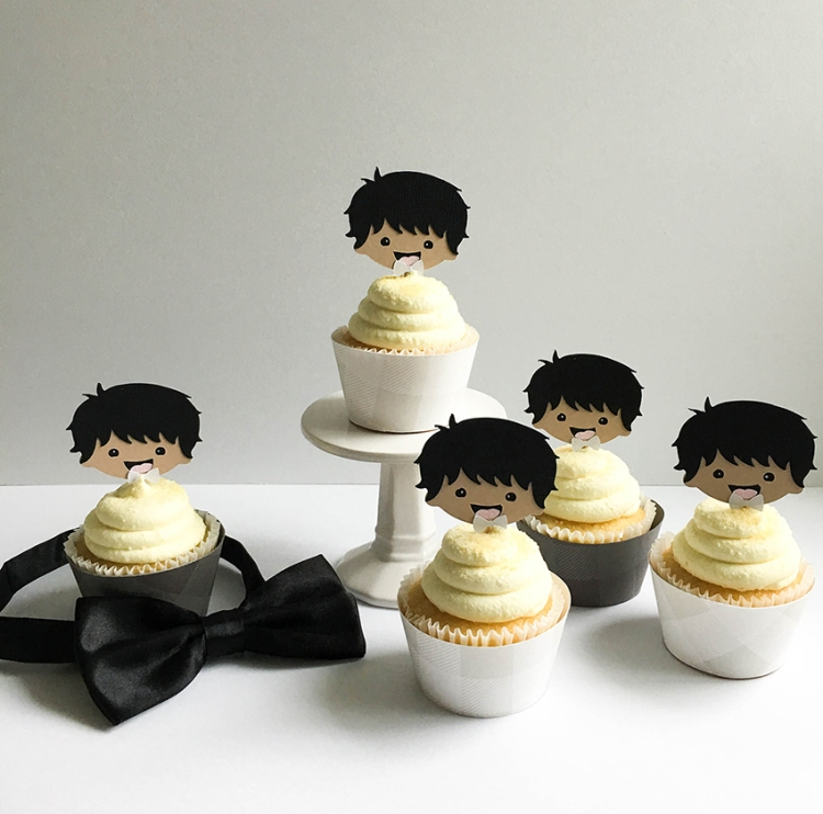 Baby Boy Cupcake Wraps by Tessa Buys