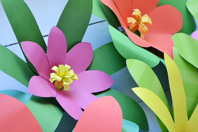 Giant Flower Party Backdrop by Aly Dosdall for We R Memory Keepers