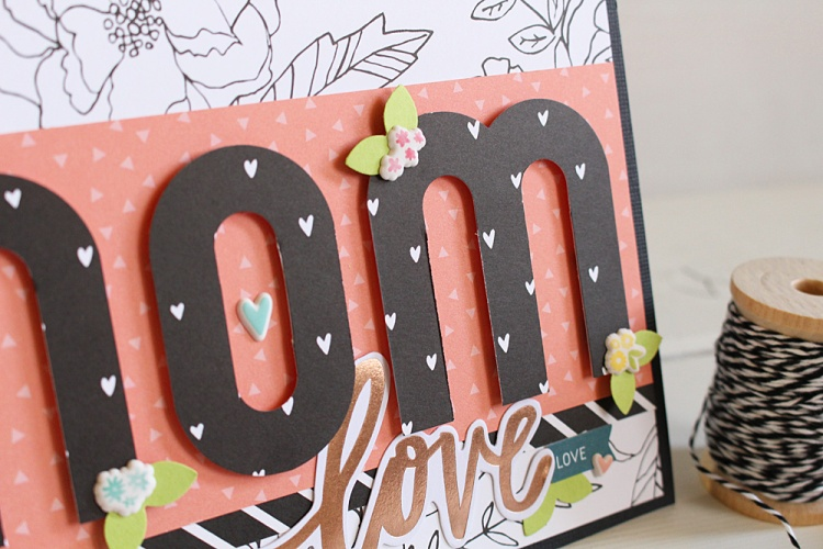 Mother's Day Card with the Mini Alphabet Punch Board by Kimberly Crawford for We R Memory Keepers