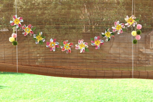 Pinwheel Flower Garland by Eva Pizarro