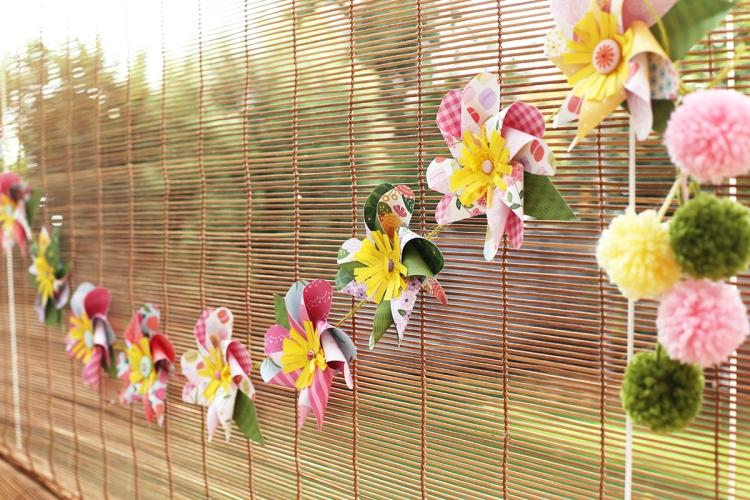 Pinwheel Flower Garland by Eva Pizarro
