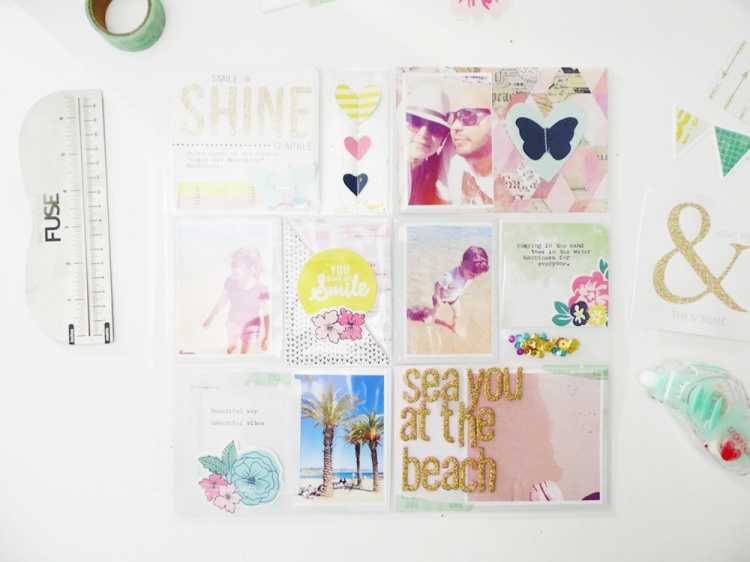 Shaker Pocket Page by Soraya Maes for We R Memory Keepers