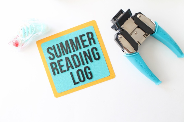 DIY Summer Reading Log by Laura Silva for We R memory Keepers