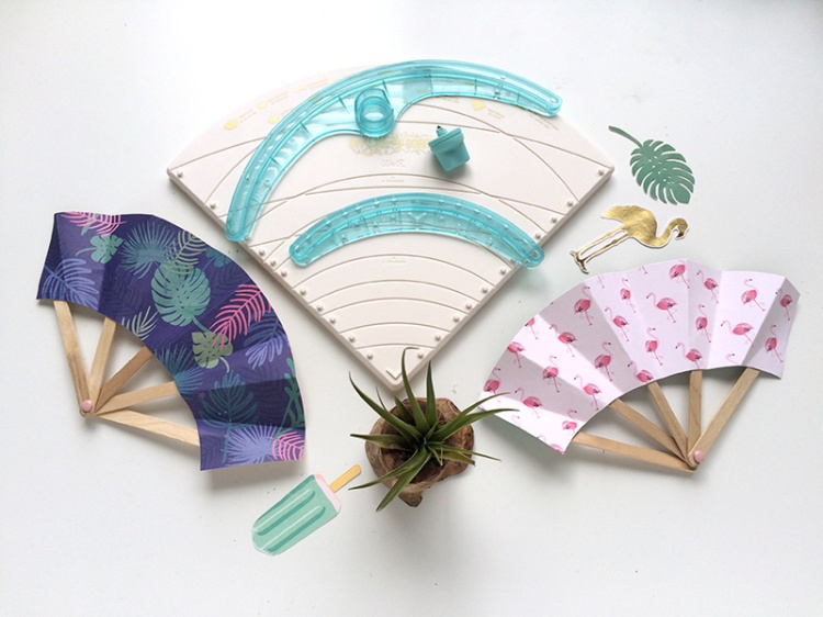 DIY Paper Fans by Aly Dosdall for We R Memory Keepers