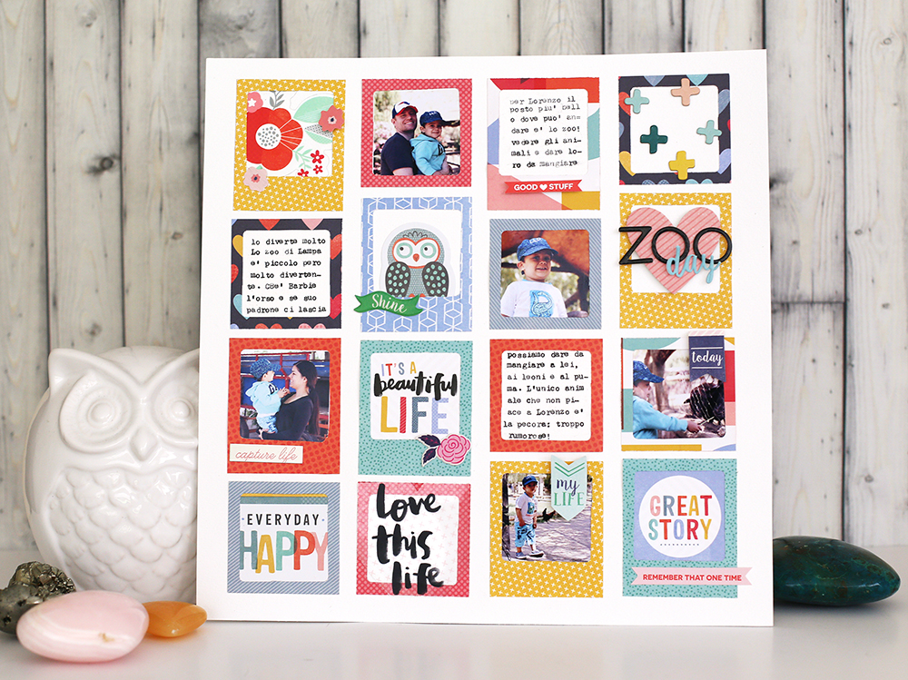 Summer Scrapbook Page With The Frame Punch Board We R Memory