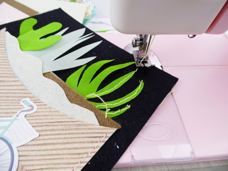 Cactus Home Decor with the Stitch Happy sewing machine by Soraya Maes for We R Memory Keepers