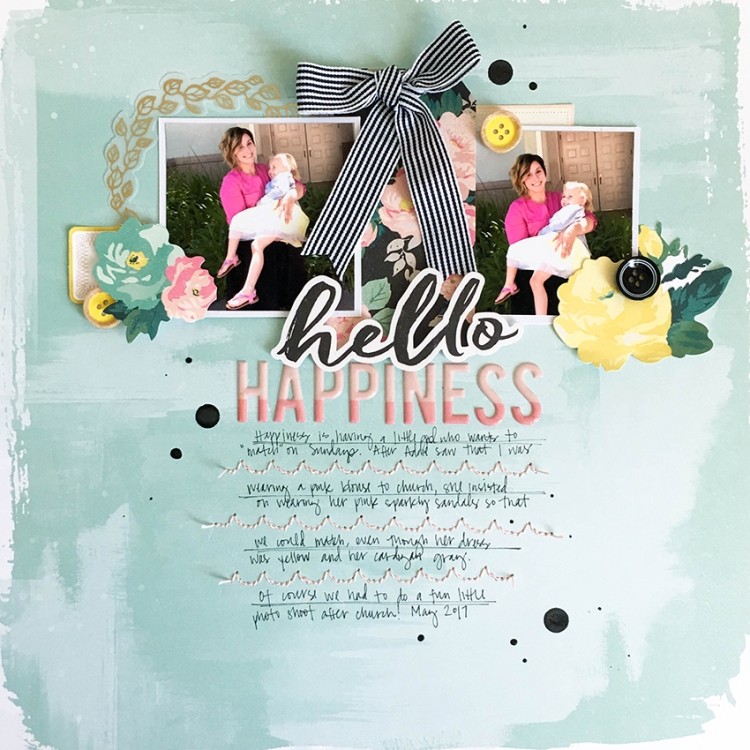 Stitch Happy Scrapbook Page by Tessa Buys for We R Memory Keepers