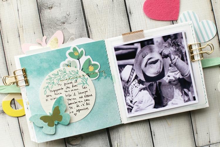 Stitch Happy Mini Album by Eva Pizarro for We R Memory Keepers