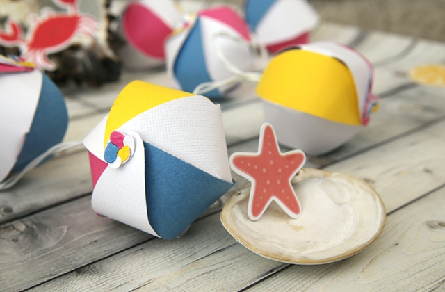 Beach Ball Garland by Eva Pizarro for We R Memory Keepers