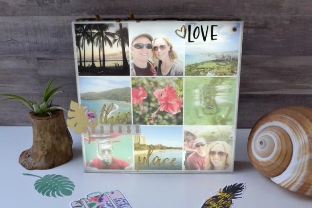 Beach Light Box Photo Collage by Aly Dosdall for We R Memory Keepers