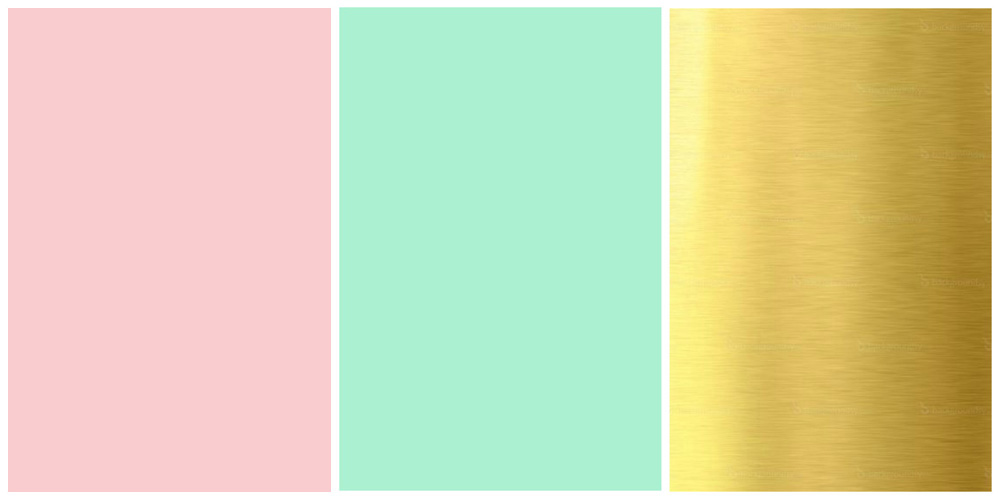 Soraya S Favorite Colors Pink Mint And Gold Planner