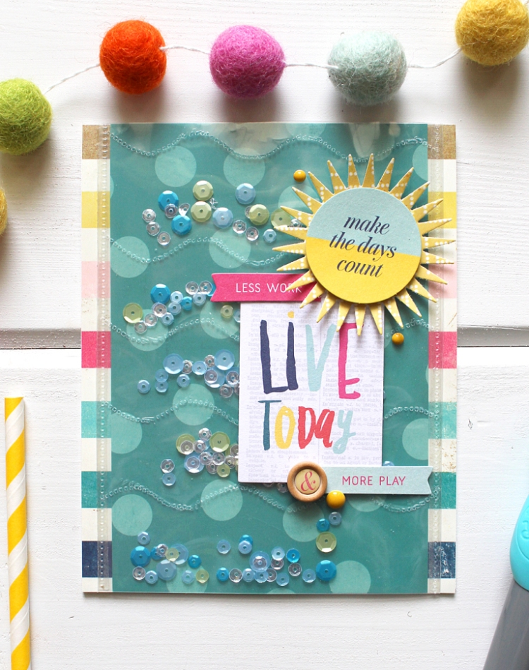 Summer Waves Shaker Card by Kimberly Crawford for We R Memory Keepers