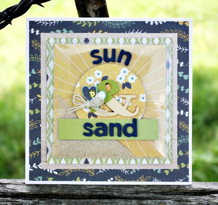 Sun & Sand Shaker Card featuring the Photo Sleeve Fuse