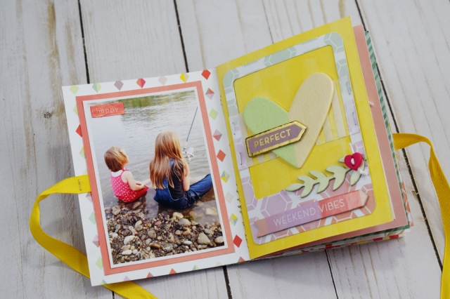 Beach Themed Mini Album with the Stitch Happy by Becki Adams for We R Memory Keepers