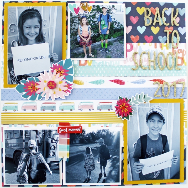Back To School Layout by Laura Silva for We R Memory Keepers