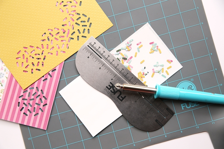 Photo Sleeve Fuse + Sprinkle Punch by We R Memory Keepers