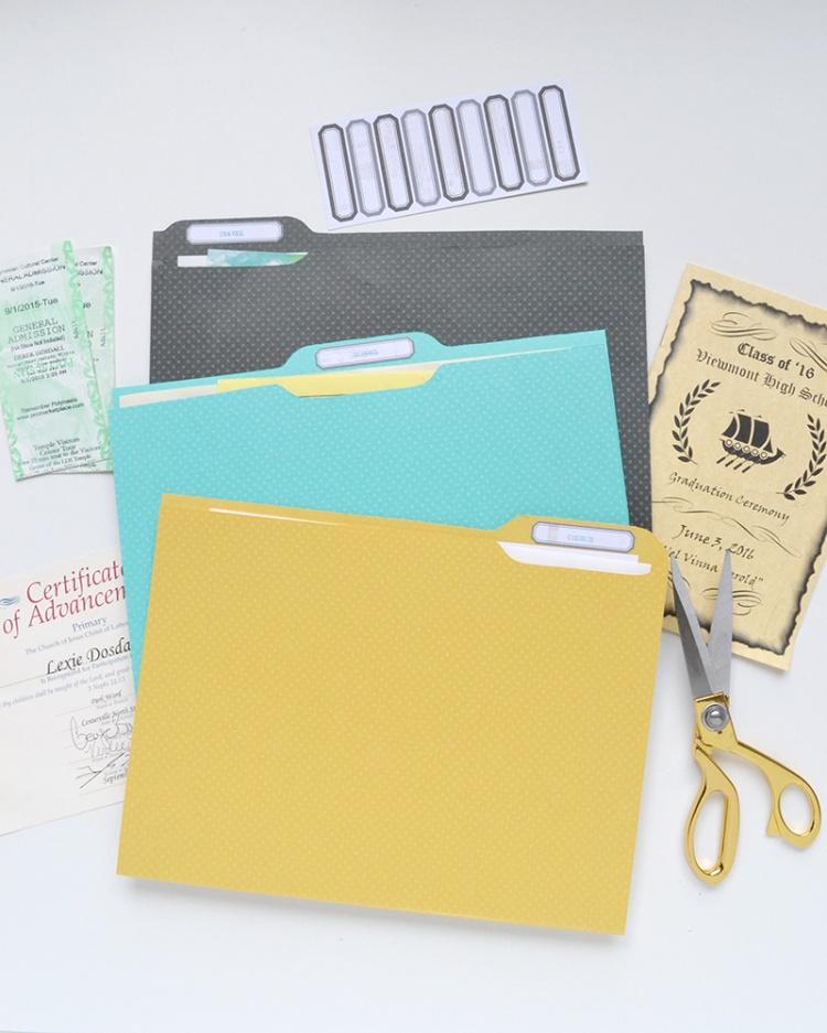 DIY Ephemera File Folders featuring the We R Memory Keepers Template Studio