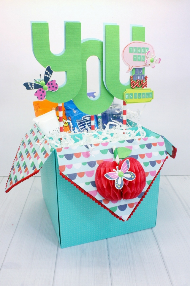 Teacher Gift Box with the Template Studio and the Alphabet Punch Board