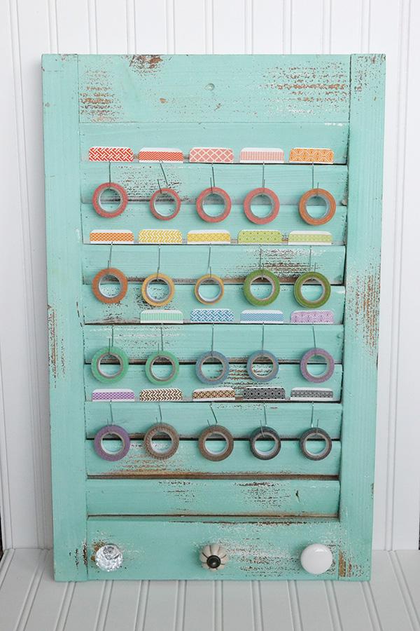 Washi Tape Shutter Storage